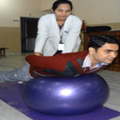 Spinal Exercise on vestibular Ball